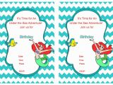 Little Mermaid Birthday Invitations Free Printables Little Mermaid Birthday Invitations – Birthday Printable