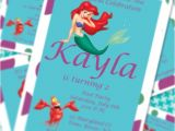 Little Mermaid Pool Party Invitations Little Mermaid Princess Ariel Pool Party by Simplyfabchic