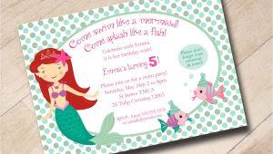 Little Mermaid Pool Party Invitations Little Mermaid Swim Party Birthday Invitation