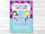 Little Mermaid Pool Party Invitations Mermaid Birthday Invitation Mermaid Birthday Invite