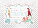 Little Mermaid Pool Party Invitations Mermaid Party Invitation Pool Party Invitation Under