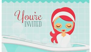 Little Spa Party Invitations Little Spa Party Invitations Birthdayexpress Com