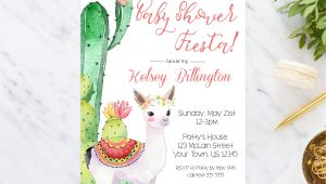Llama Baby Shower Invitations Llama Baby Shower Invitation Baby Shower Invite Cactus