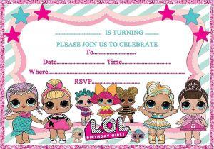 Lol Birthday Invitation Template Lol Birthday Party Invitations Invites Kids Girls