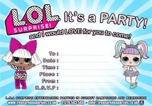 Lol Birthday Invitation Template Lol Dolls Party Invitation Thumb Childrens