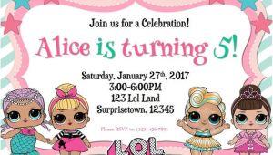 Lol Birthday Invitation Template Lol Surprise Birthday Invitation