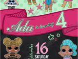 Lol Birthday Invitation Template Novel Concept Designs Lol Dolls Green Pink