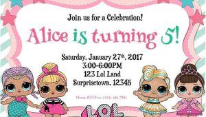 Lol Party Invitation Template Lol Surprise Birthday Invitation