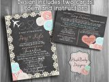 Long Distance Baby Shower Invitation Wording Long Distance Baby or Bridal Shower by Creativecactusshop