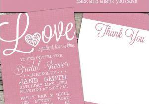Love is Patient Love is Kind Wedding Invitations Love is Patient Love is Kind Printable Bridal Shower