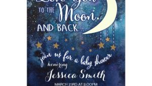 Love You to the Moon and Back Baby Shower Invitations Love You to the Moon & Back Baby Shower Invitation