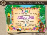 Luau Party Invitation Template Hawaiian Party Invitation Luau Birthday Invitation Luau