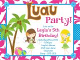 Luau Party Invitation Template Luau Birthday Invitation Luau Party Invitations Printable or