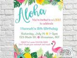 Luau Party Invitation Template Luau Birthday Invites Aloha Pineapple Invitations Summer