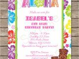 Luau Party Invitation Template Luau Party Invitations Template Luau Invitations