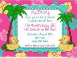 Luau themed Baby Shower Invitations Baby Shower Invitations Hawaiian Luau Baby Shower