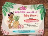 Luau themed Baby Shower Invitations Luau Baby Girl Shower Invitation Summer Tropical by