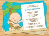 Luau themed Baby Shower Invitations Luau Baby Shower Invitation by eventfulcards