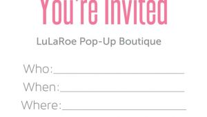 Lularoe Party Invite Template Free Lularoe Pop Up Invitations by Dsgraphicscreations On Etsy