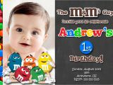M and M Birthday Invitations Chalkboard M&m S Chocolate Birthday Invitations