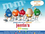 M and M Birthday Invitations Invitation M&m Chocolate Party Collection Printable