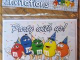 M and M Birthday Invitations M & M Birthday Invitations