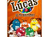 M and M Birthday Invitations Personalized M&m S Invitations Thank You Cards