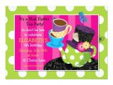Mad Hatter Tea Party Birthday Invitations Mad Hatter Tea Party Birthday Invitation
