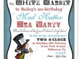 Mad Hatter Tea Party Invitation Template Free Mad Hatter Invitation