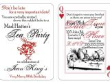 Mad Hatter Tea Party Invitation Template Free Mad Hatter Party Invitation