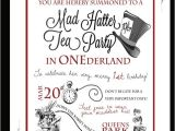 Mad Hatter Tea Party Invitation Template Free Tea Party In Quot One Quot Derland or Just Wonderland if It 39 S Not