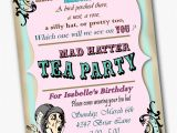 Mad Hatter Tea Party Invitation Wording Mad Hatter Invitation Birthday Tea Party Custom by