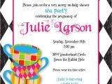 Mad Hatter Tea Party Invitation Wording Mad Hatter Tea Party Custom Baby Shower Invitation