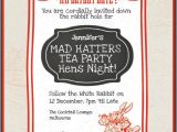 Mad Hatter Tea Party Invitation Wording Mad Hatters Tea Party Hens Invites