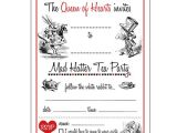 Mad Hatter Tea Party Invitations Free Printable 12 Cool Mad Hatter Tea Party Invitations Kitty Baby Love