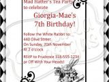 Mad Hatter Tea Party Invitations Free Printable Items Similar to Mad Hatter 39 S Tea Party Birthday Party or