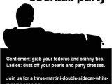 Mad Men Party Invitations Mad Men Party Invitations Cimvitation