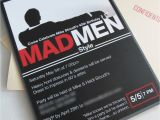 Mad Men Party Invitations Vivian Elle Invitations Mike 39 S Mad Men Invitations