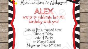 Magic Birthday Party Invitation Template Magic Party Invitations Template Magic Party Party