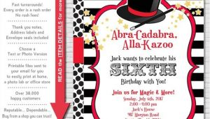 Magic Party Invites Magic Party Invitation Magic Birthday Invitation Magic