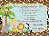 Make A Baby Shower Invitation Online Free Free Printable Jungle Baby Shower Invitations