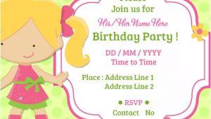 Make An Informal Invitation Card for A Birthday Party Child Birthday Party Invitations Cards
