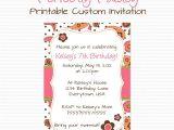 Make An Informal Invitation Card for A Birthday Party Girly Paisley Birthday Party Invitation Summer Birthday