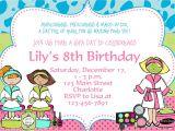 Make An Informal Invitation Card for A Birthday Party Printable Spa Birthday Party Invitations