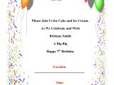 Make An Invitation Card for Your Birthday Party Birthday Party Invitations Template