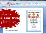 Make Your Own Birthday Party Invitations Free Printable How to Make Your Own Party Invitations Just A Girl and