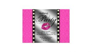 Makeup Party Invitations Free Makeup Party Invitation Advertisement Mirror Zazzle Ca