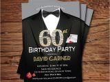 Male Birthday Invitation Casino 60th Birthday Invitation Adult Man Birthday Party