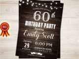 Male Birthday Invitation Surprise 60th Birthday Invitation Man Surprise Birthday Party