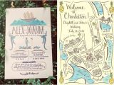 Map Cards for Wedding Invitations Greet Your Guests with Gusto Custom Illustrated